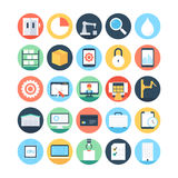 Factory manufacturing production Vector Icons 3 stock illustration
