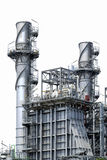 Factory metal pipelines petrochemical industry. Stock Images