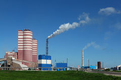 Factory of mineral fertilizer Stock Photography