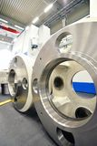 Factory of modern mechanical engineering - production of gearbox. Es for wind turbines royalty free stock photo