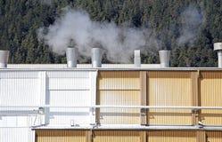 Factory Mondi in city Ruzomberok, Slovakia Stock Image