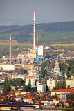 Factory Mondi in town Ruzomberok, Slovakia Stock Photos