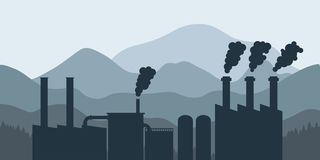 Factory and mountains Royalty Free Stock Photography