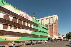 Factory of the Nestle company in Estcourt. ESTCOURT, SOUTH AFRICA - MARCH 21, 2018: The Factory of the Nestle company in Estcourt in the Kwazulu-Natal Province Stock Photography