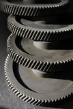 Factory newly manufactured gears Royalty Free Stock Image