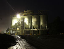 Factory at night Stock Image