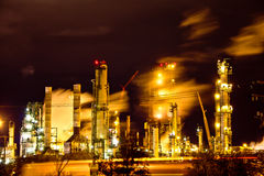 Factory at night Stock Photography