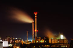 Factory at night Royalty Free Stock Photography