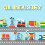 Factory oil building industry and technology Stock Photo
