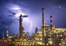 Factory - oil and gas industry Royalty Free Stock Image