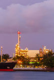 Factory oil refinery twilight at bangkok thailand Royalty Free Stock Photography