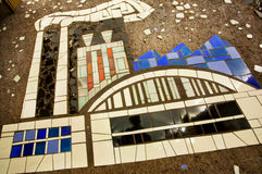 Factory.  Old ceramic tiled artwork Stock Photography