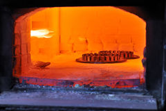 Factory oven for steel Stock Image