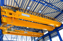 Factory overhead crane stock photography
