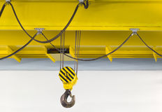 Factory overhead crane stock image