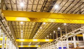 Factory overhead crane heavy duty Royalty Free Stock Photos