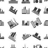Factory pattern icons in black style. Big collection of factory vector symbol stock illustration Stock Photo