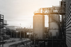 Factory. Petrochemical plant with monotone effect Stock Image