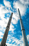 Factory pipe. And blue sky Stock Photography