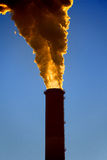 Factory pipe. Pollution. Royalty Free Stock Image