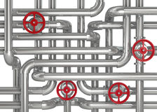 Factory Pipes Royalty Free Stock Images