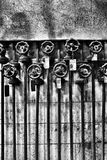 Factory pipes and valves Royalty Free Stock Photography