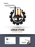 Factory, plant. logo, icon, sign, emblem, template Stock Photos