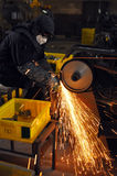 Factory polishing workshop Stock Photography