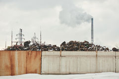 Factory polluting the environment Royalty Free Stock Photo