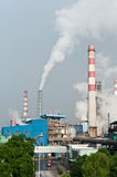 Factory pollution Stock Images