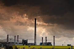 Factory pollution stock photos
