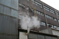 Factory pollution Royalty Free Stock Photo