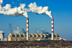 Factory pollution Royalty Free Stock Photography