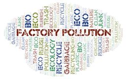 Factory Pollution word cloud. Wordcloud made with text only royalty free stock image