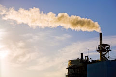 Factory power plant smoking Royalty Free Stock Images