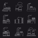 Factory and power plants icons Royalty Free Stock Photo