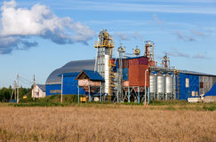 Factory processing of grains and cereals Stock Images