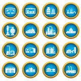 Factory and production buildings. Factory icons set. Simple illustration of 16 tennis icons set vector icons for web vector illustration