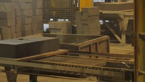 Factory for the production of concrete blocks and paving stones stock video