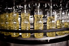 Factory for the production of edible oils. Shallow Royalty Free Stock Images