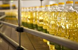 Factory for the production of edible oils. Shallow DOFF. Stock Images