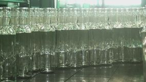 Factory for the production of glass bottles. stock video footage