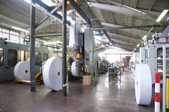 Factory: prodution of envelopes and bag Royalty Free Stock Photos