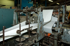 Factory: prodution of envelopes and bag Stock Photography