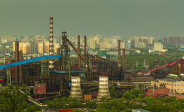 Factory in rain Royalty Free Stock Images