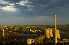 Factory after rain beijing Stock Photo