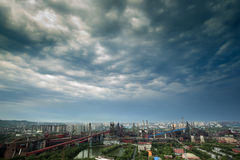 Factory after rain beijing china Stock Images