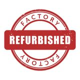 Factory Refurbished rubber stamp Royalty Free Stock Photo