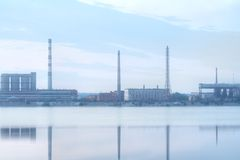 Factory And a River Stock Images