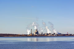 Factory on a river in Virginia Royalty Free Stock Photography